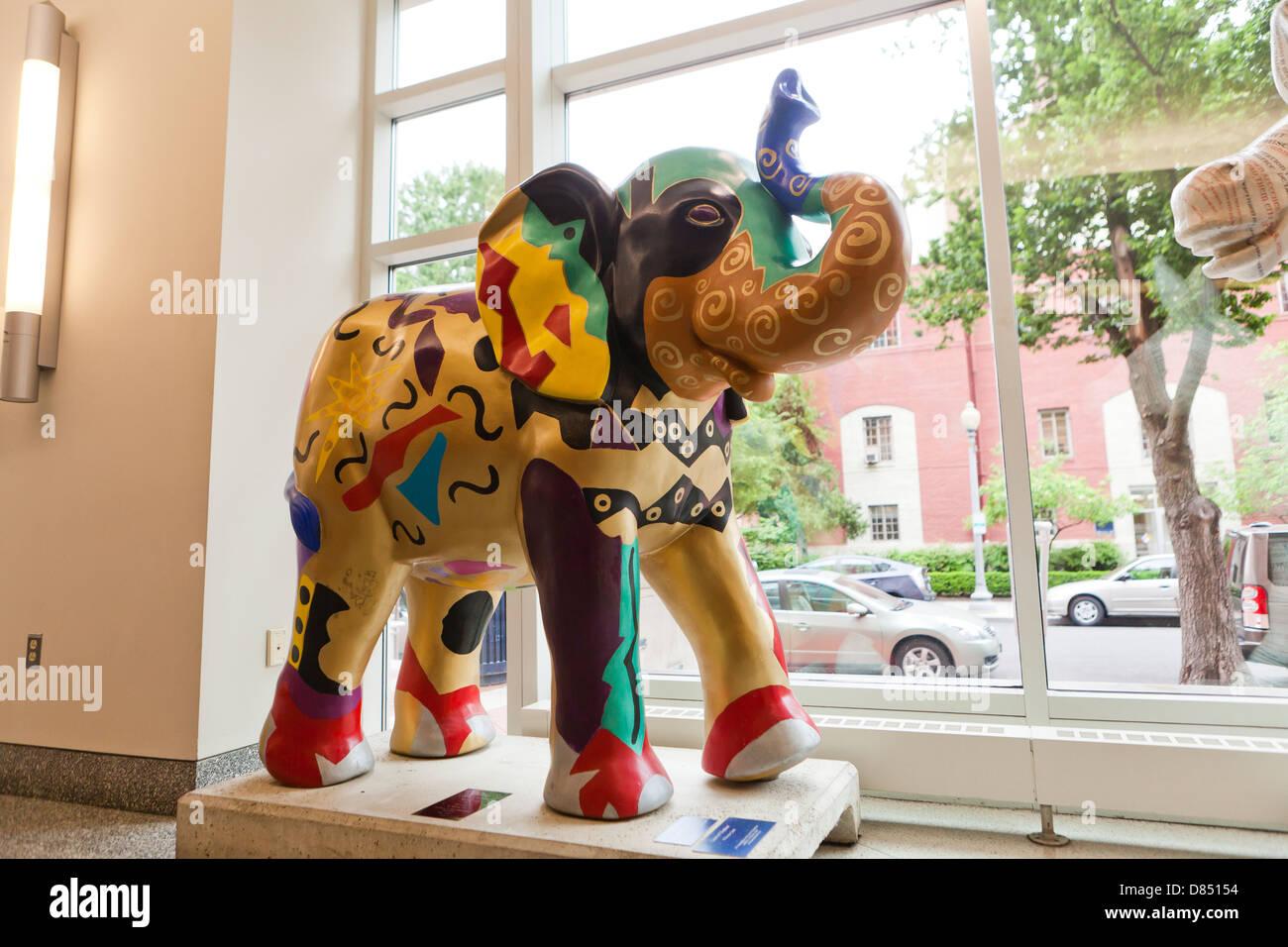 Republican Elephant sculpture - Stock Image