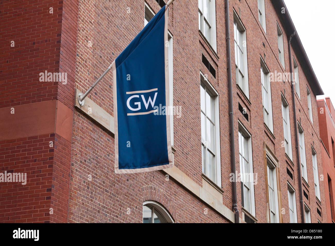 George Washington University banner - Stock Image