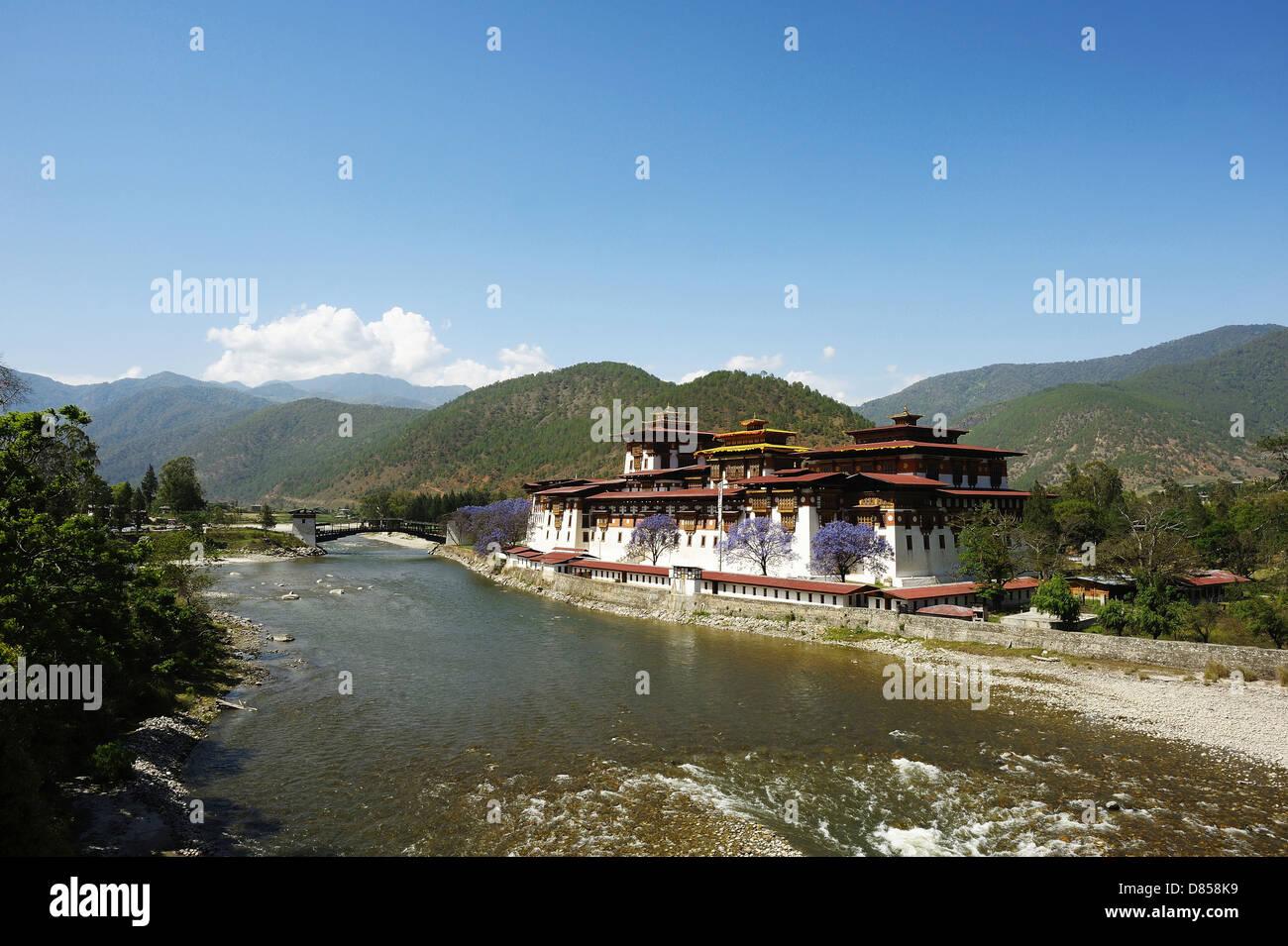 Bhutan - phunaka monastery Stock Photo