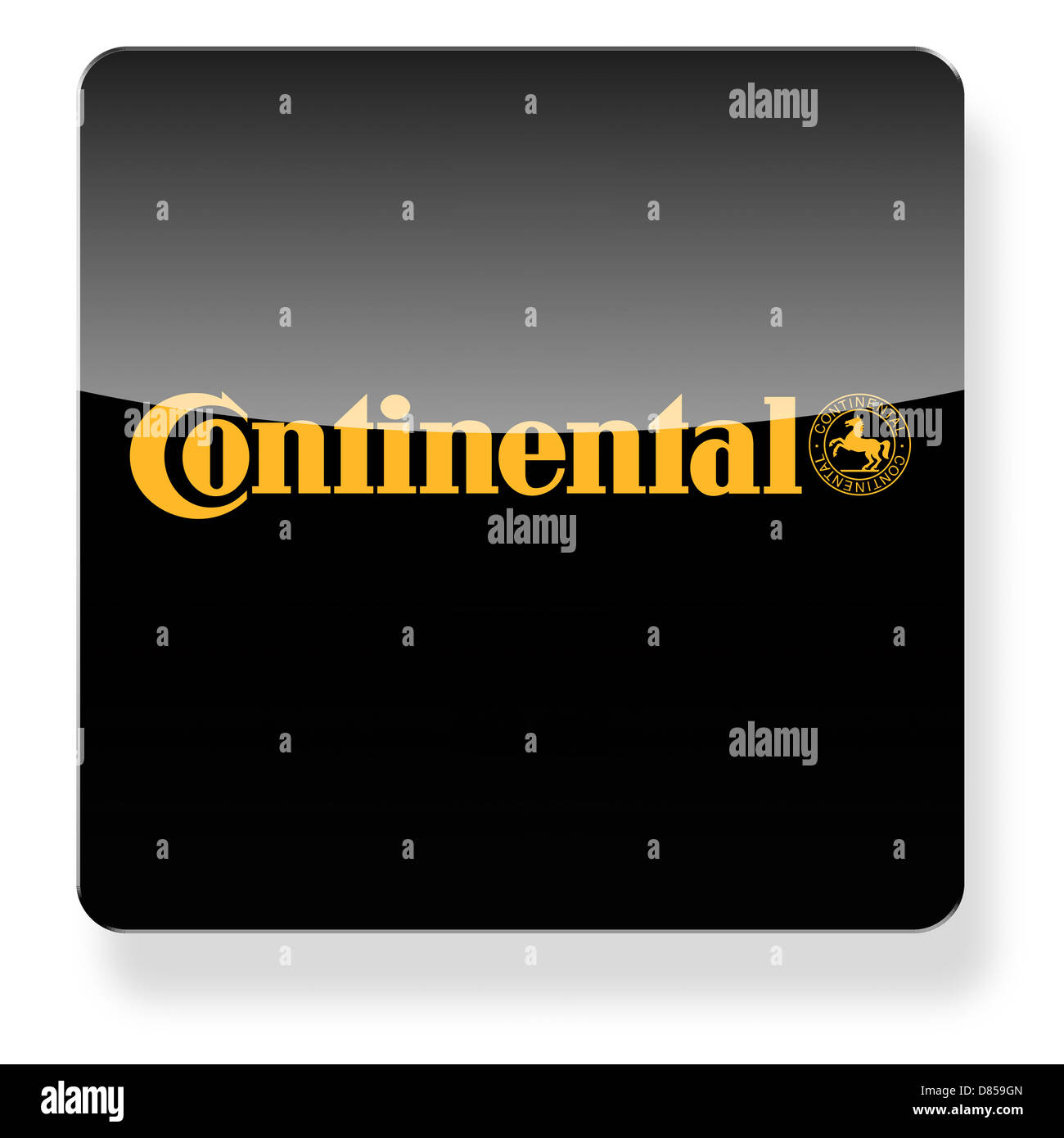 Continental tyres logo as an app icon. Clipping path included. - Stock Image