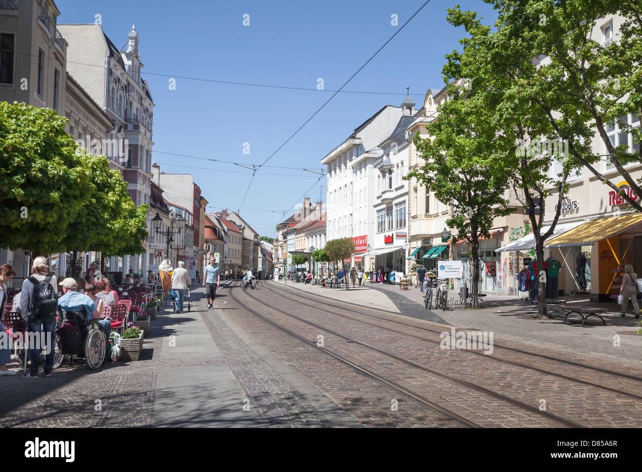 Steinstrasse, Brandenburg an der Havel, Germany - Stock Image