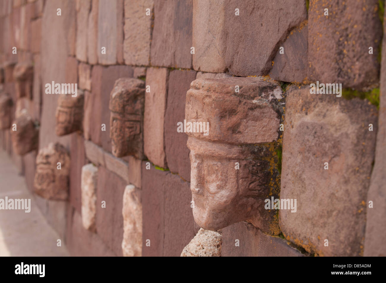 The historic city of Tiwanaku culture in the Bolivian highlands - Stock Image