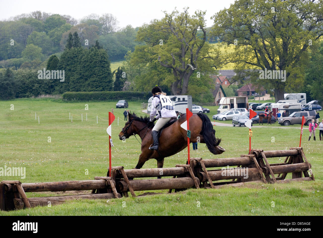 Hampshire: Equestrian cross-country event - Stock Image