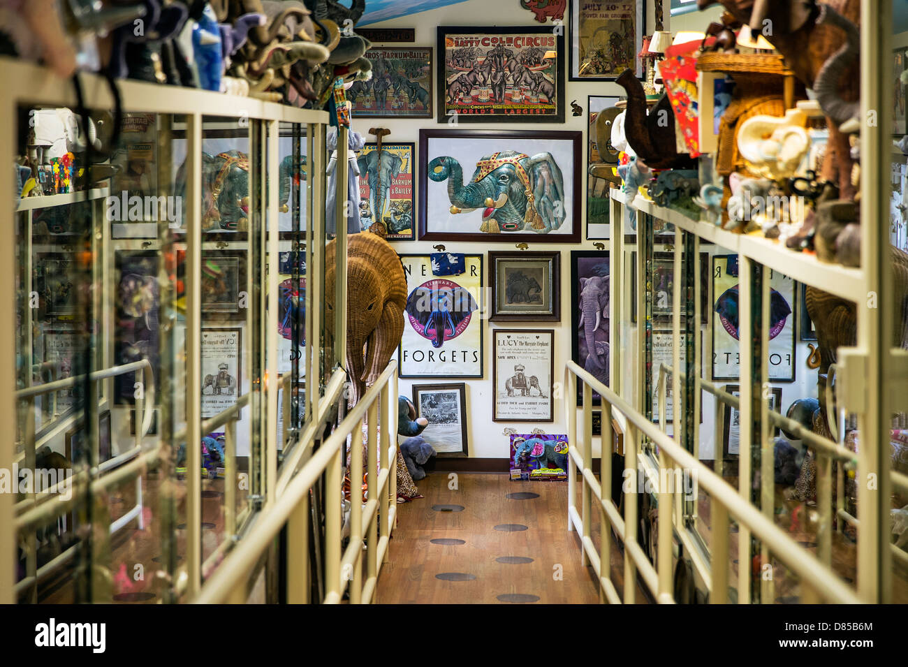 Mister Ed's Elephant Museum and candy shop, Orrtanna, Pennsylvania, USA - Stock Image