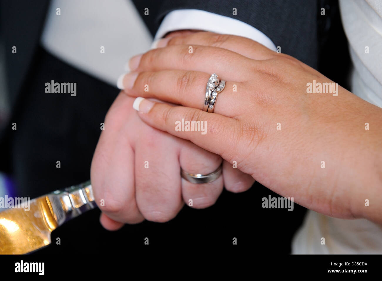 Husband Wife Wedding Rings Stock Photos & Husband Wife Wedding Rings ...