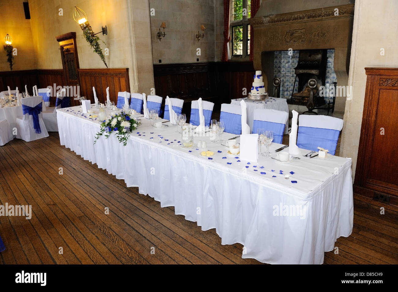 Head Table Wedding Reception Blue Stock Photos Head Table Wedding