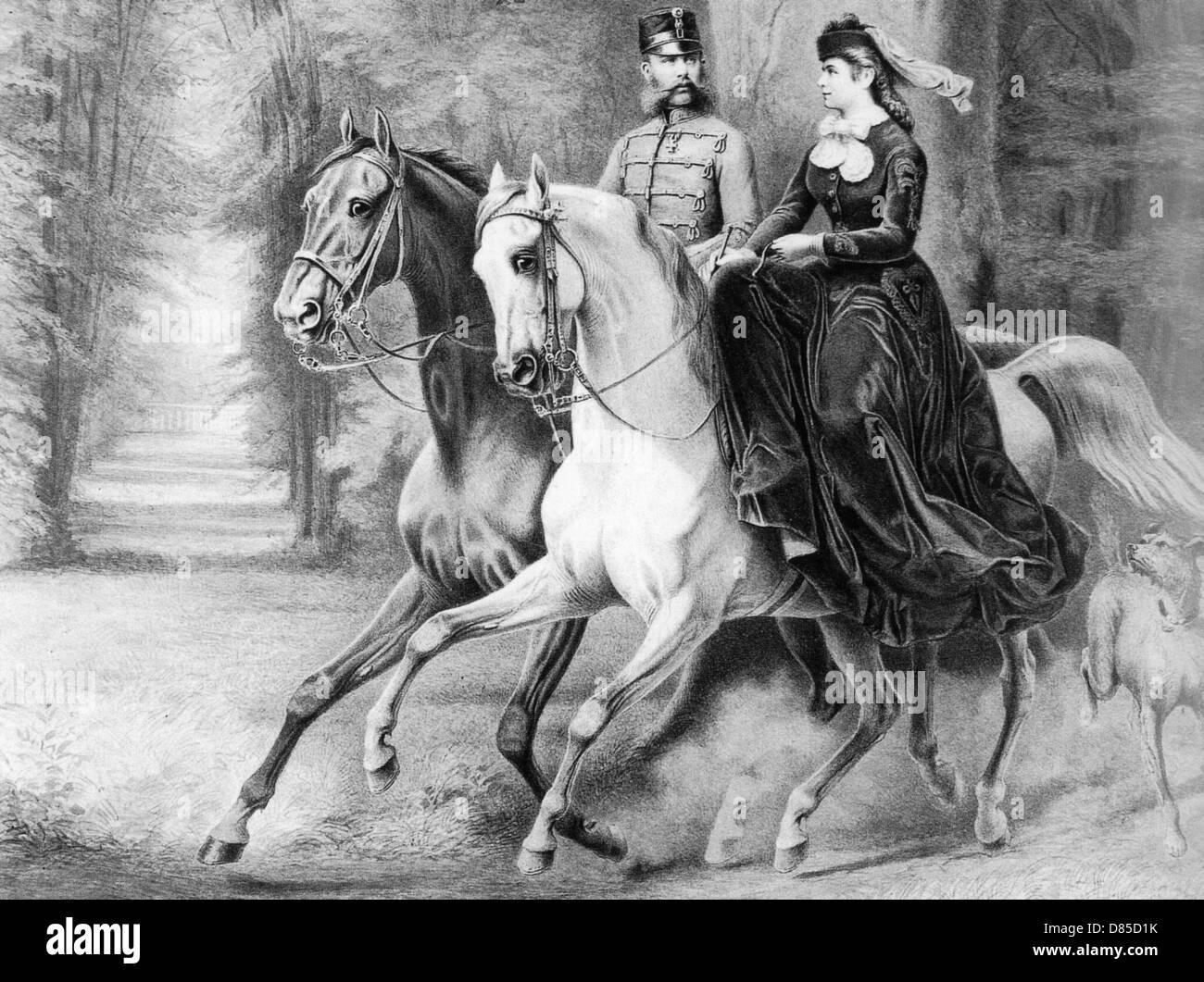 EMPRESS ELISABETH OF AUSTRIA (1837-1898) about 1865 - Stock Image