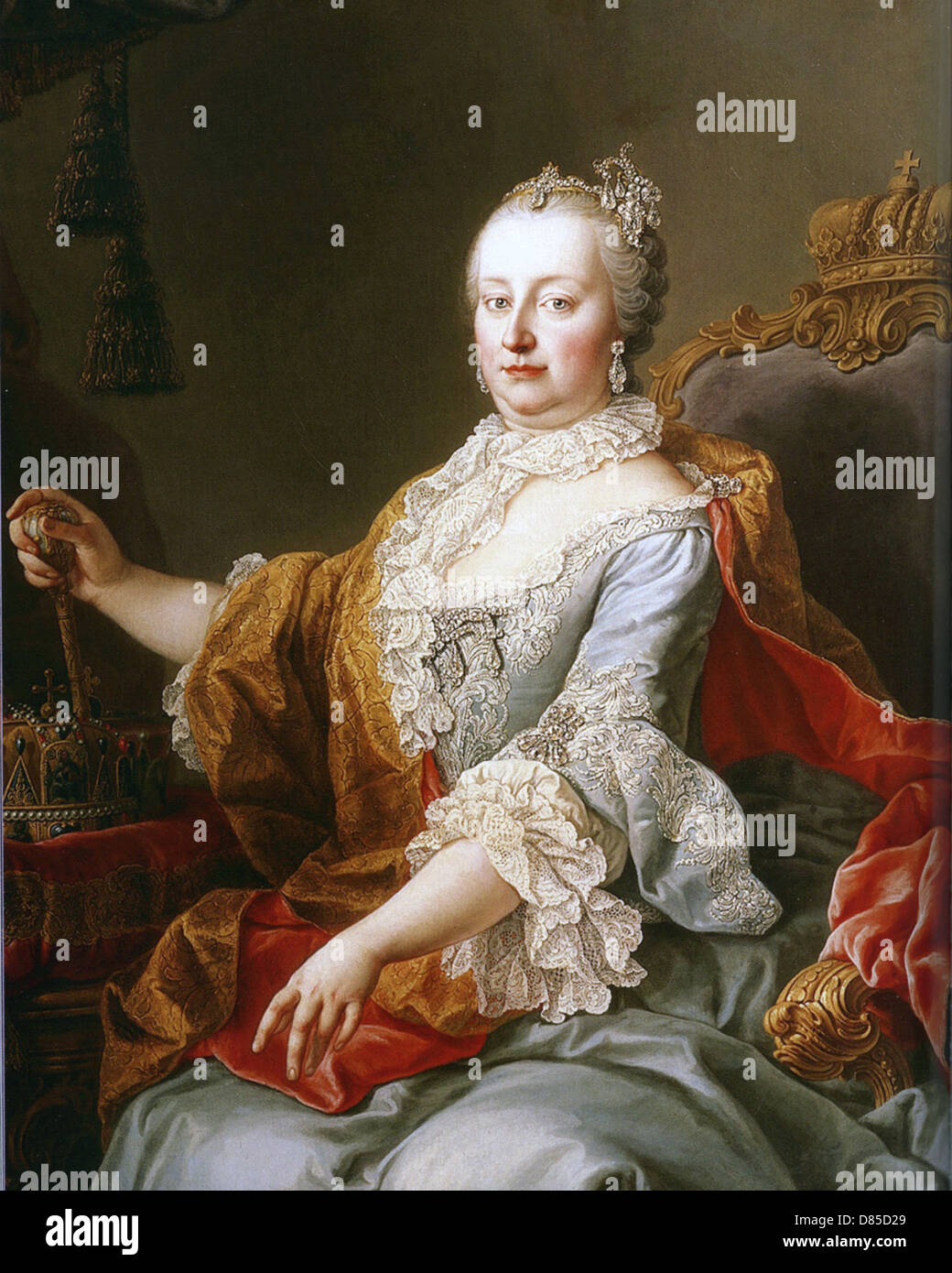 MARIA THERESA (1717-1780) only female ruler of the Habsburg empire painted in 1759 - Stock Image