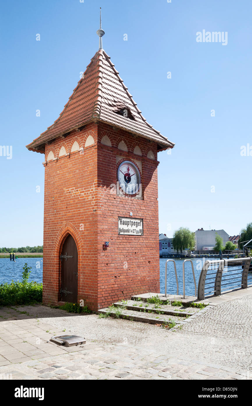 Hauptpegel, Brandenburg an der Havel, Germany - Stock Image