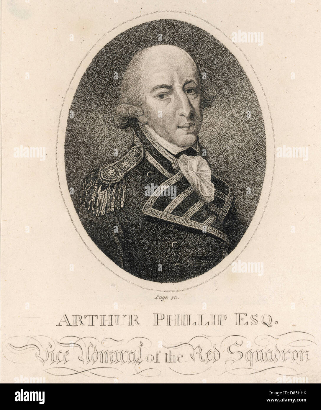 Arthur Phillip - Stock Image