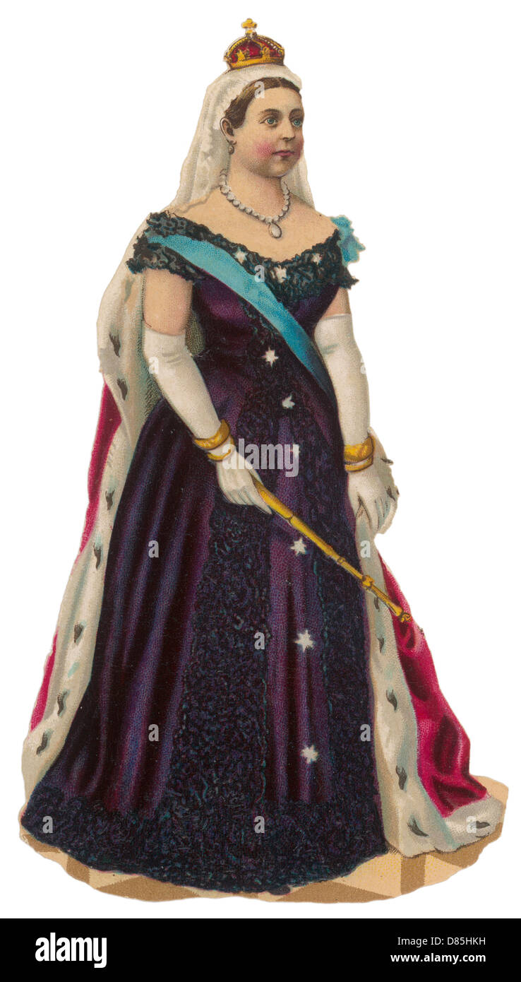 Queen Victoria Scrap - Stock Image
