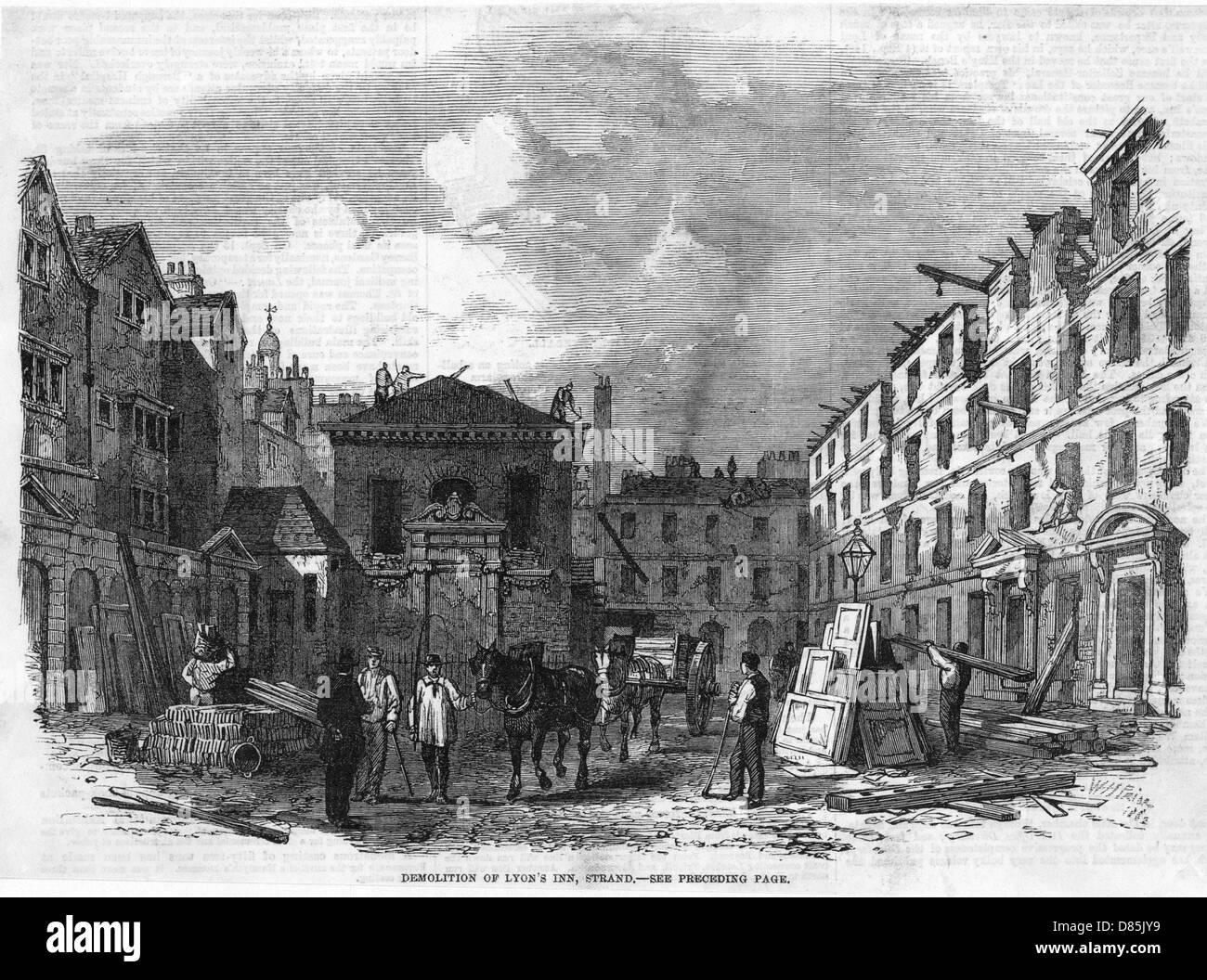 Lyons Inn Demolished - Stock Image