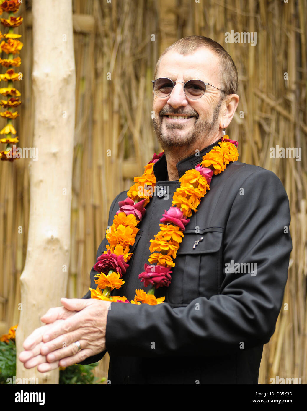 London, UK, 20/05/2013 : 2013 RHS Chelsea Flower Show. Ringo Starr. Picture by Julie Edwards - Stock Image
