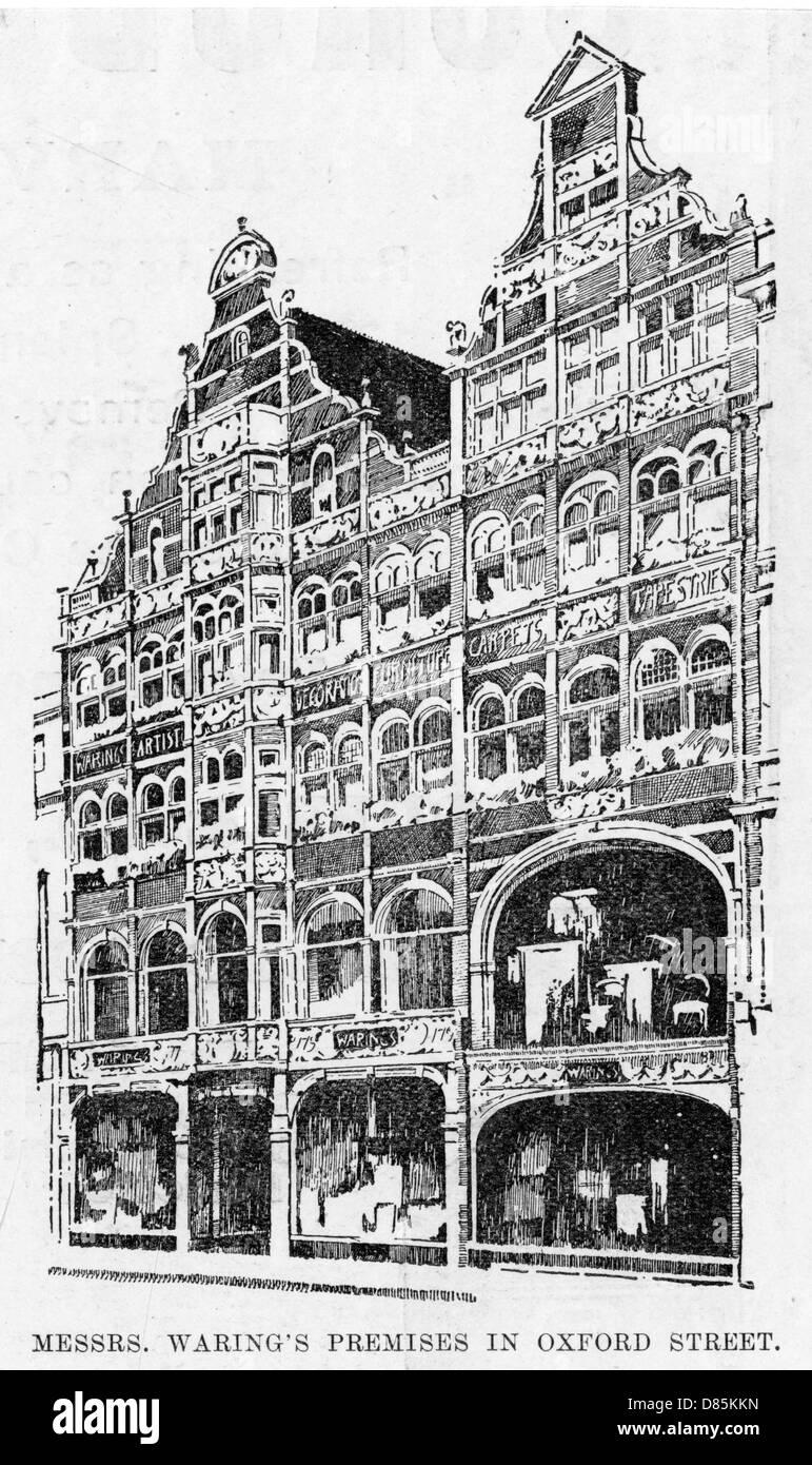 Oxford Street Shops - Stock Image