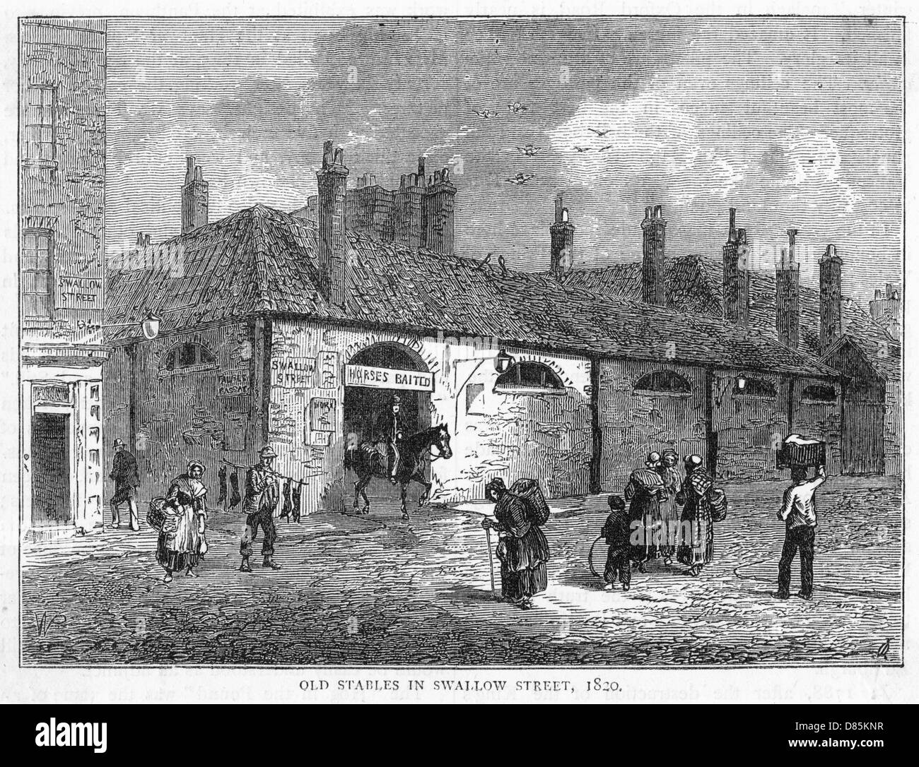 Swallow Street Stables - Stock Image