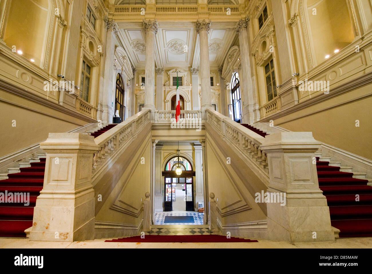 Italy Piedmont Turin Carignano palace National Museum of the Italian Risorgimento - Stock Image