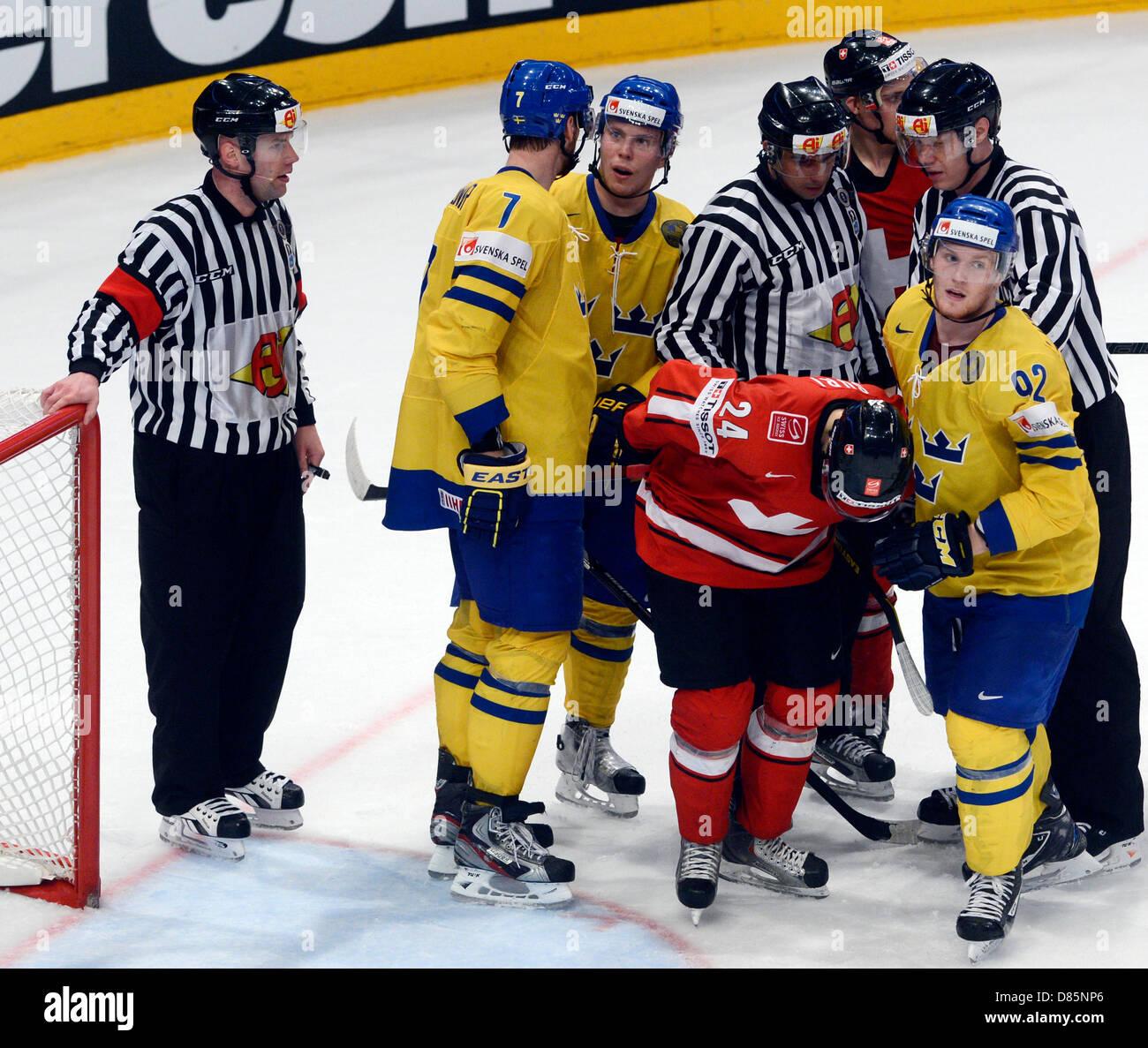 Stockholm, Sweden. 19th May 2013. IIHF World Championships, Ice Hockey, Czech Republic, final match Sweden vs. Switzerland, Stock Photo