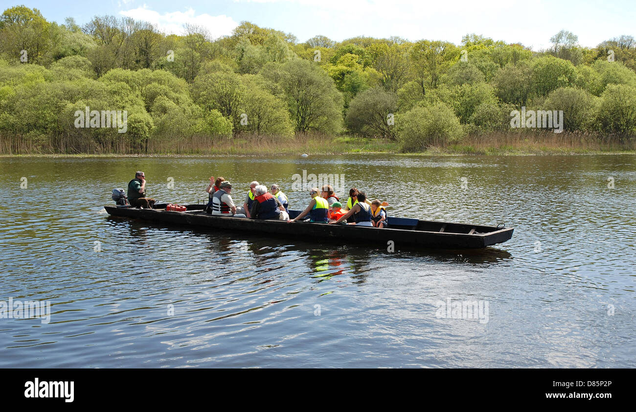 Punt, Crom Castle Estate, Upper Lough Erne, Fermanagh, Northern Ireland - Stock Image