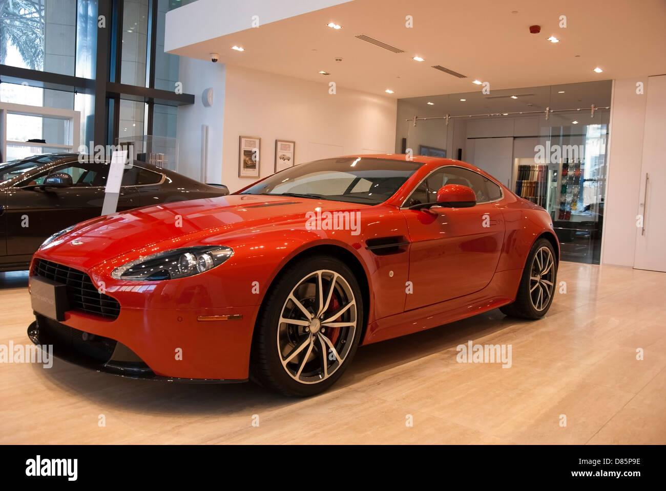 2013 Volcano Red Aston Martin V8 Vantage Sports Coupe Sportscar Stock Photo Alamy