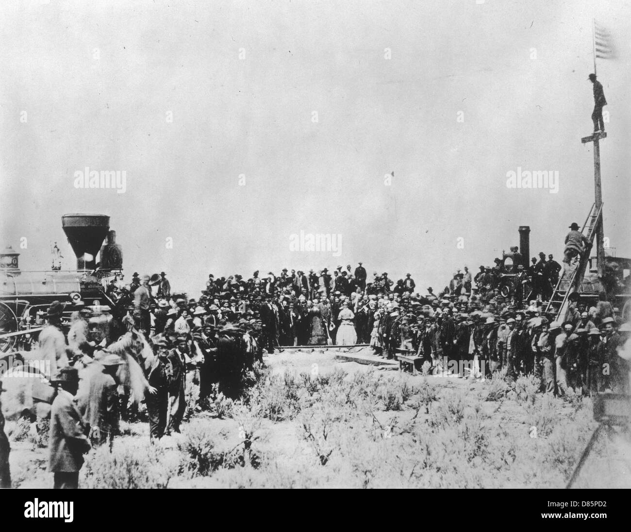 First Transcontinental Railway Link  Utah - Stock Image