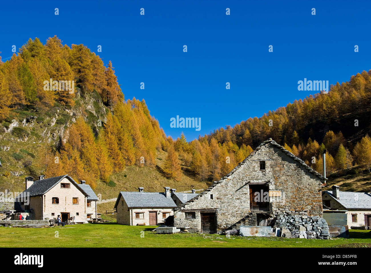 Italy Piedmont Devero alp Alpe Devero Campriolo Stock Photo