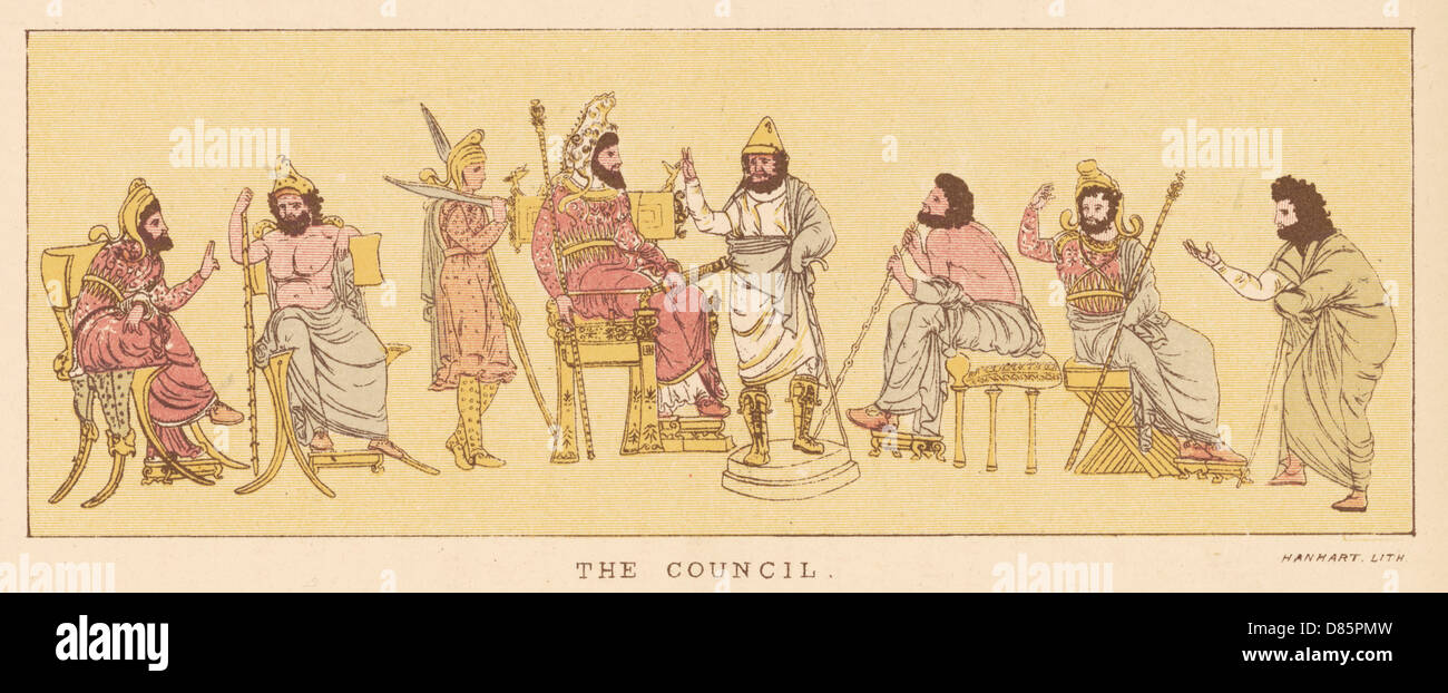 Greek Council Of War During The Persian Wars - Stock Image