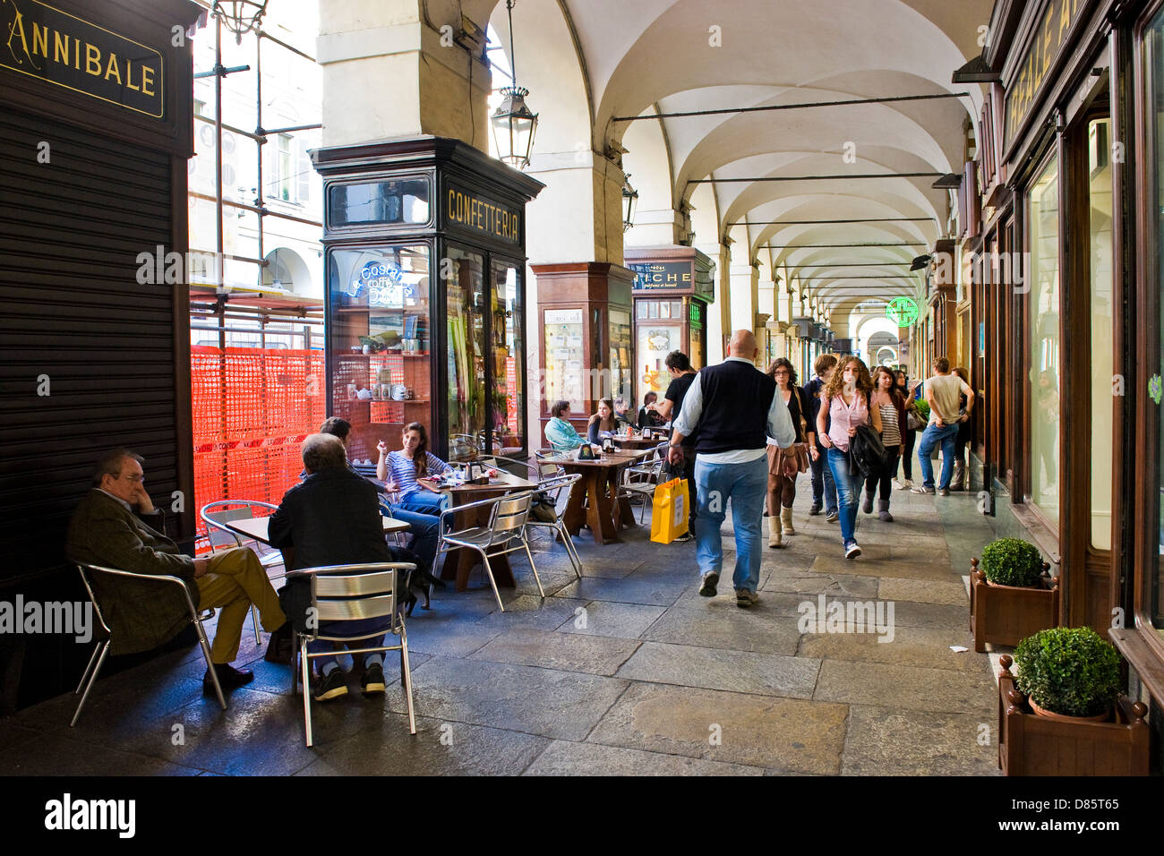 Italy Piedmont Turin daily life - Stock Image