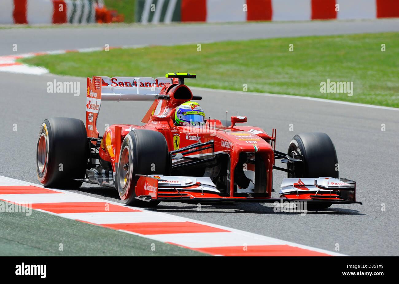 Felipe Massa (BRA), Ferrari F138 during the Spanish Formula One Grand Prix race 2013 - Stock Image