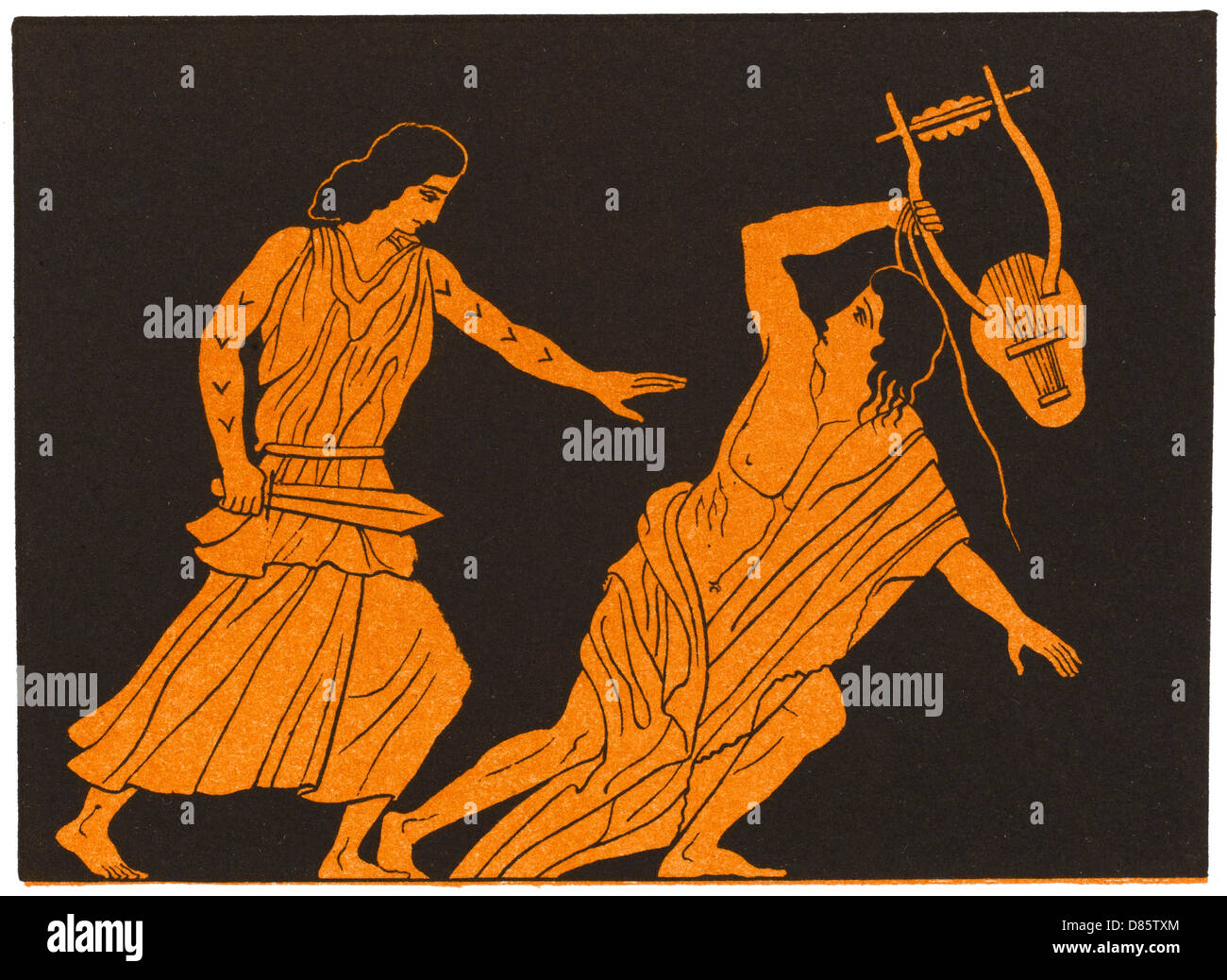 The Death Of Orpheus In Greek Myth - Stock Image