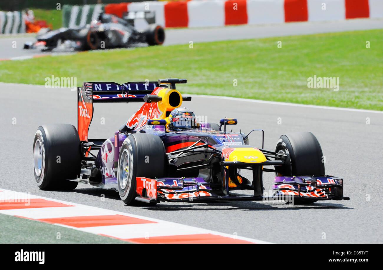 Sebastian Vettel (GER),Red Bull Racing RB9 during the Spanish Formula One Grand Prix race 2013 - Stock Image