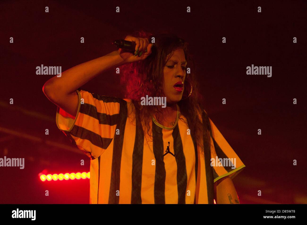 Mykki Blanco (Michael Quattlebaum Jr ), rapper, performance