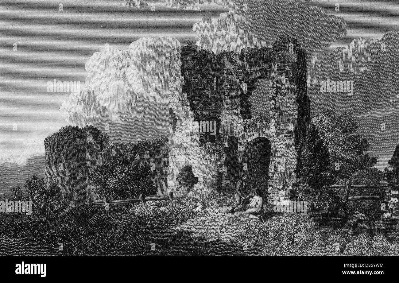 Pevensey Castle  Sussex - Stock Image