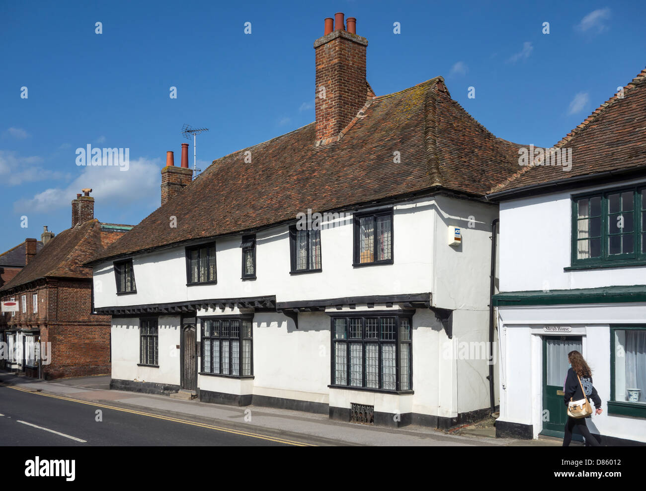 A Wealden Hall House Wingham High Street Kent England - Stock Image