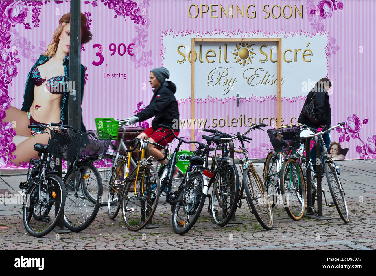 France Alsace Strasbourg daily life - Stock Image