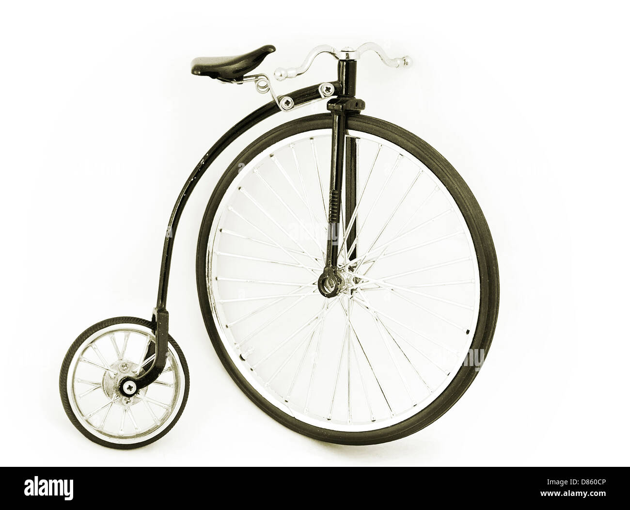 vintage circus bicycle - Stock Image