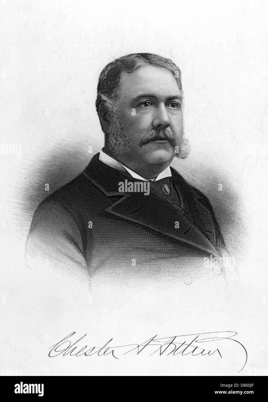 Chester Alan Arthur  President Of The United States - Stock Image