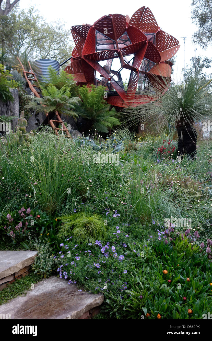 London, UK. 20th May, 2013. The Chelsea Flower Show. Picture: Trailfinders Australian Garden presented by Flemings, - Stock Image