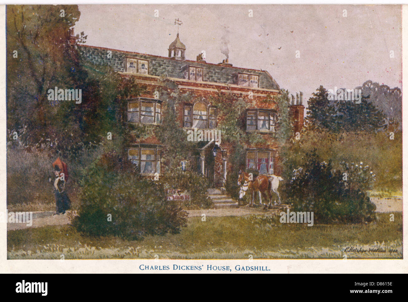 Home Of Charles Dickens At Gadshill  Kent Stock Photo