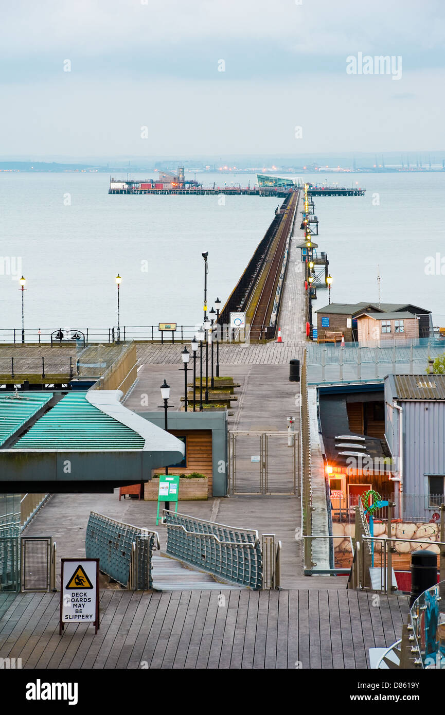 Southend on sea pier,very early morning. - Stock Image