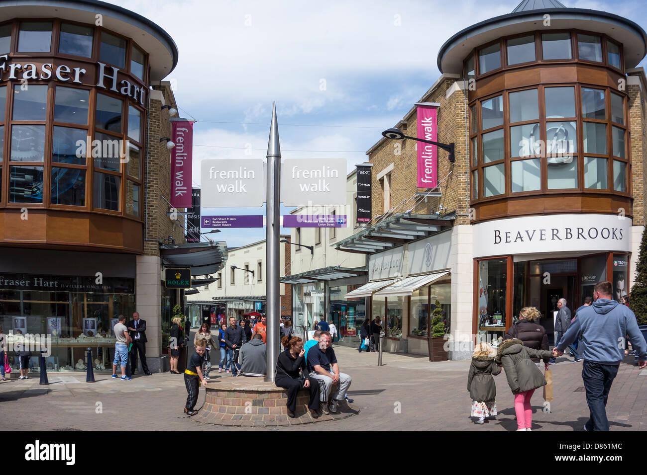Fremlin Walk Shopping Precinct Maidstone Kent - Stock Image