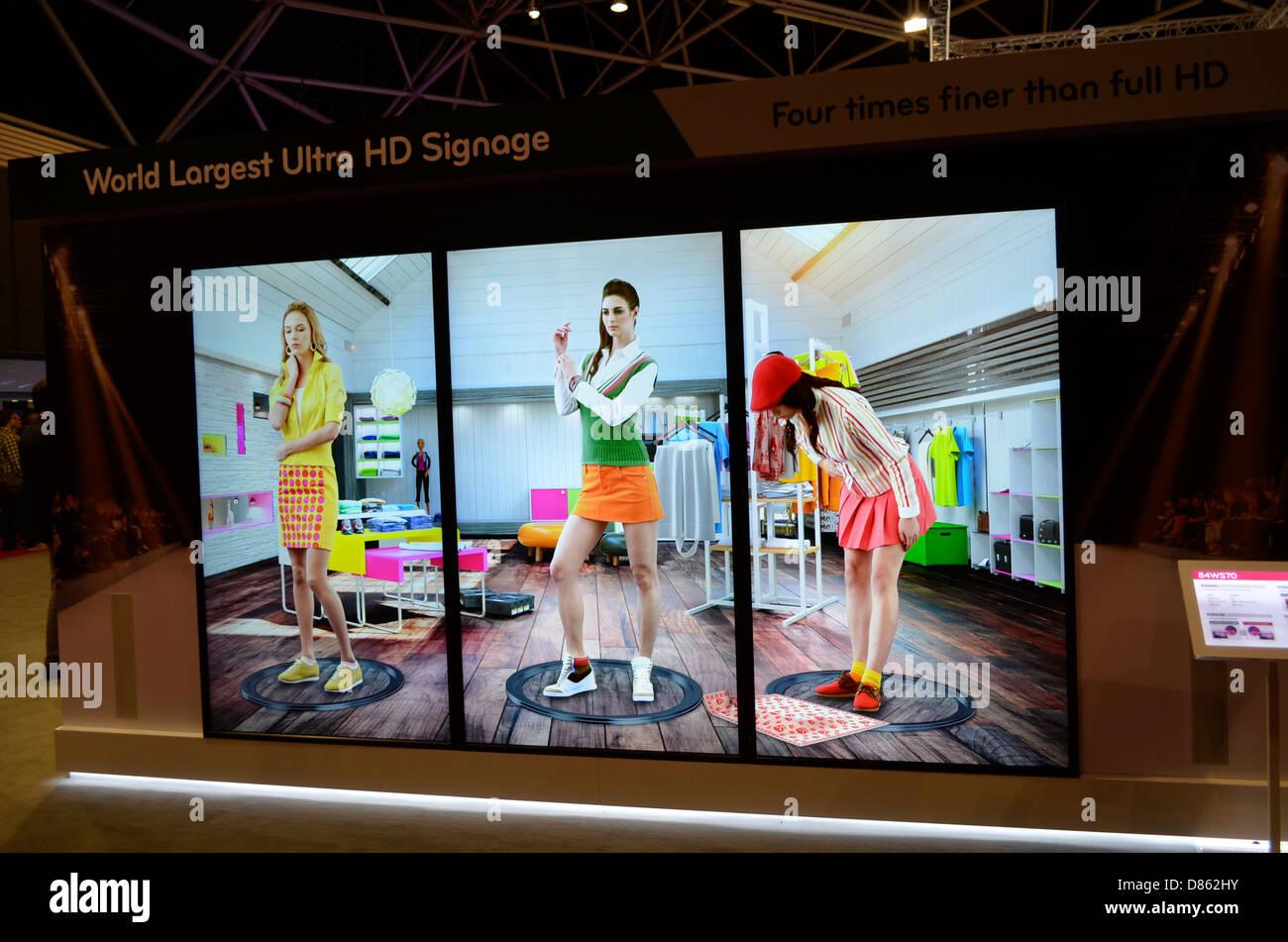 4k display - Stock Image