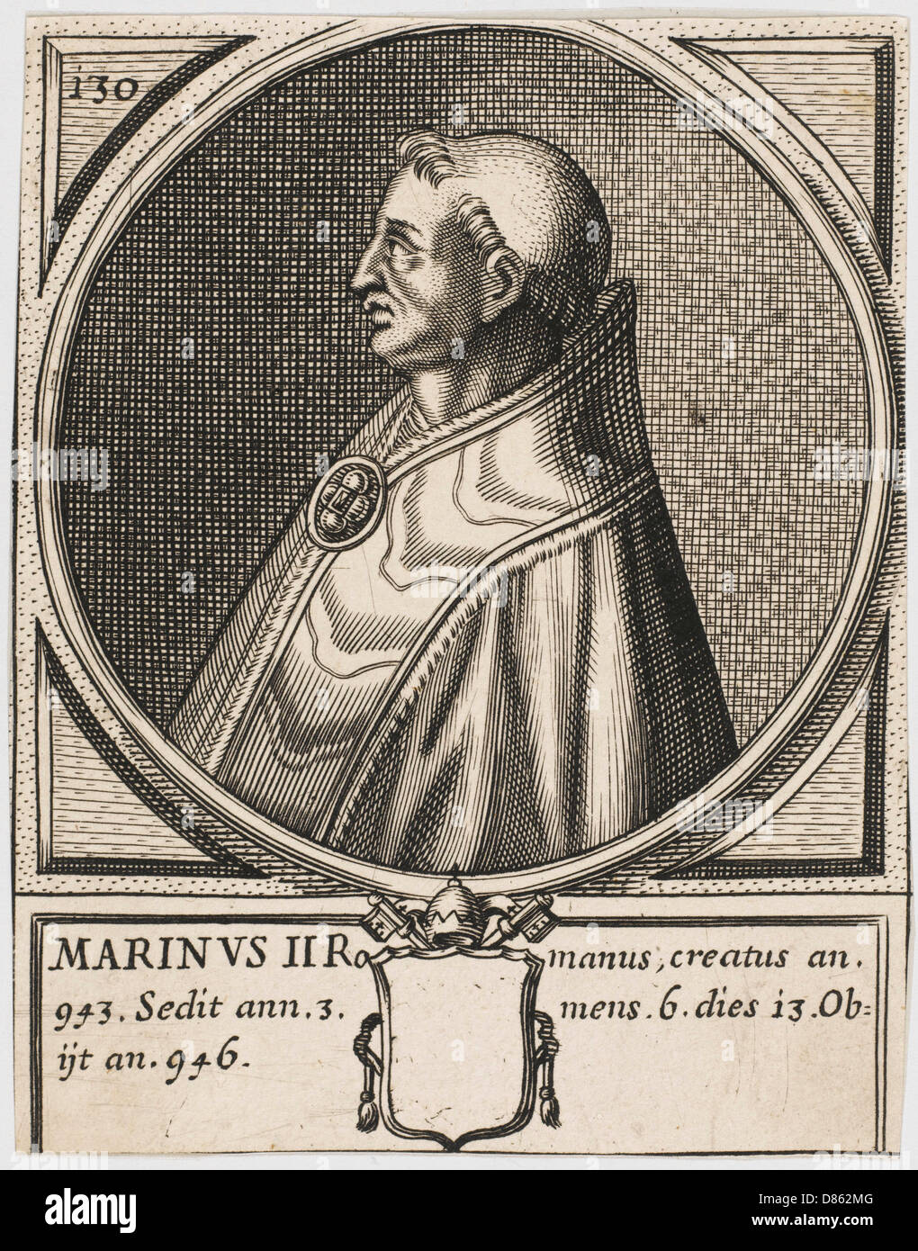 Pope Martinus Ii - Stock Image