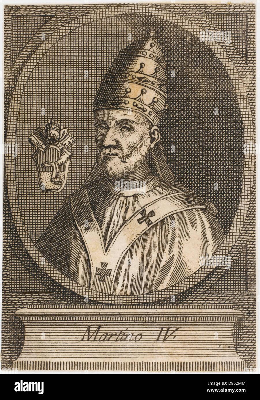 Pope Martinus Iv - Stock Image