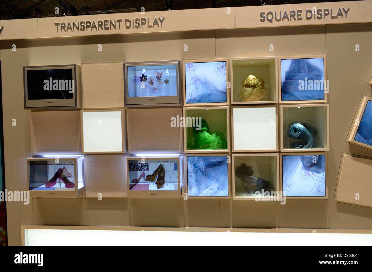Transparent display Stock Photo