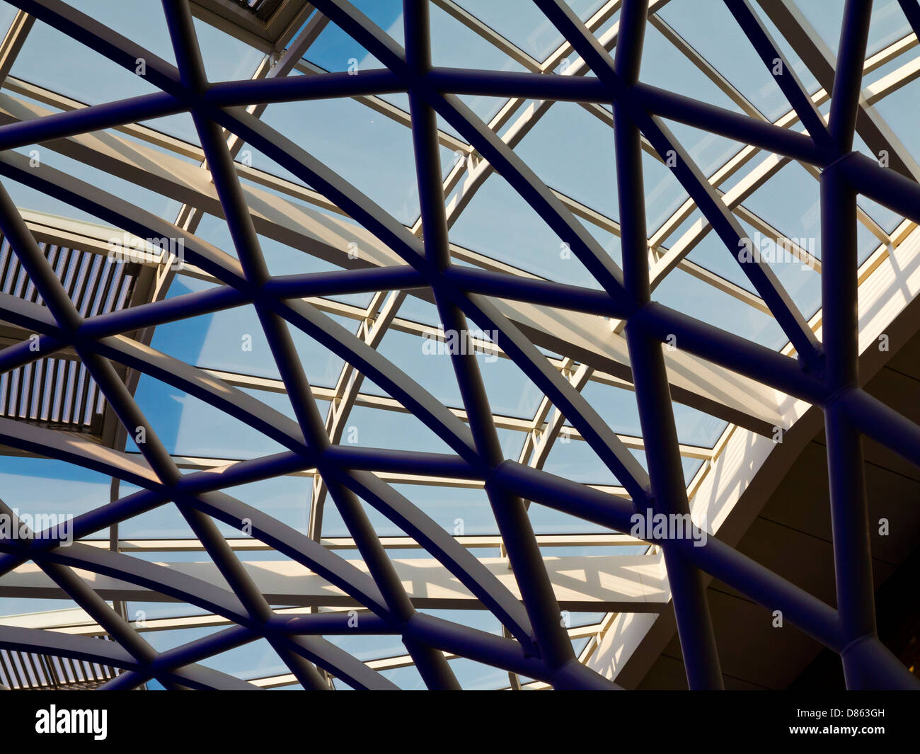 Detail Of Diagrid Roof Structure At King S Cross Railway