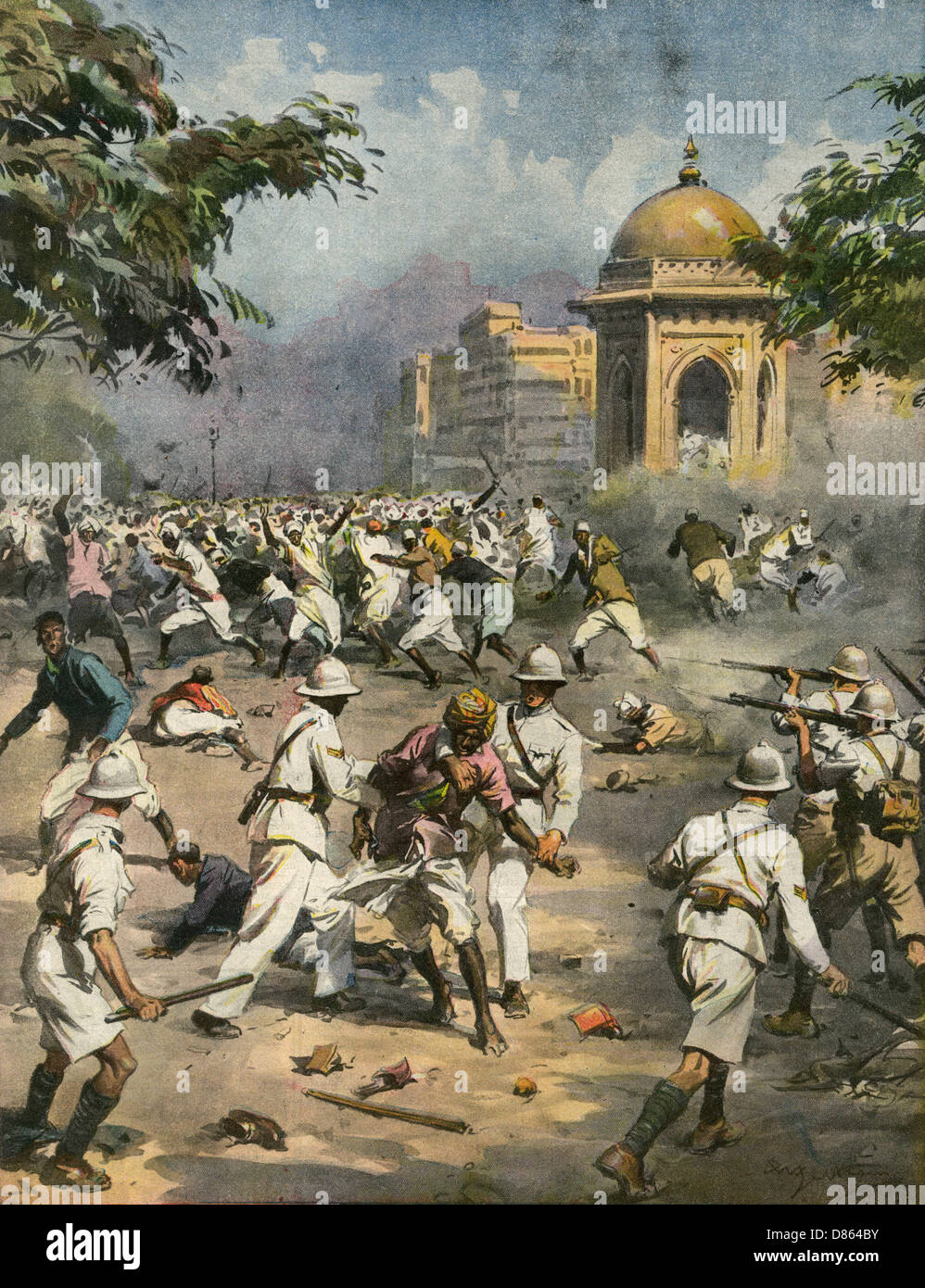 Nationalists In India During Second World War - Stock Image