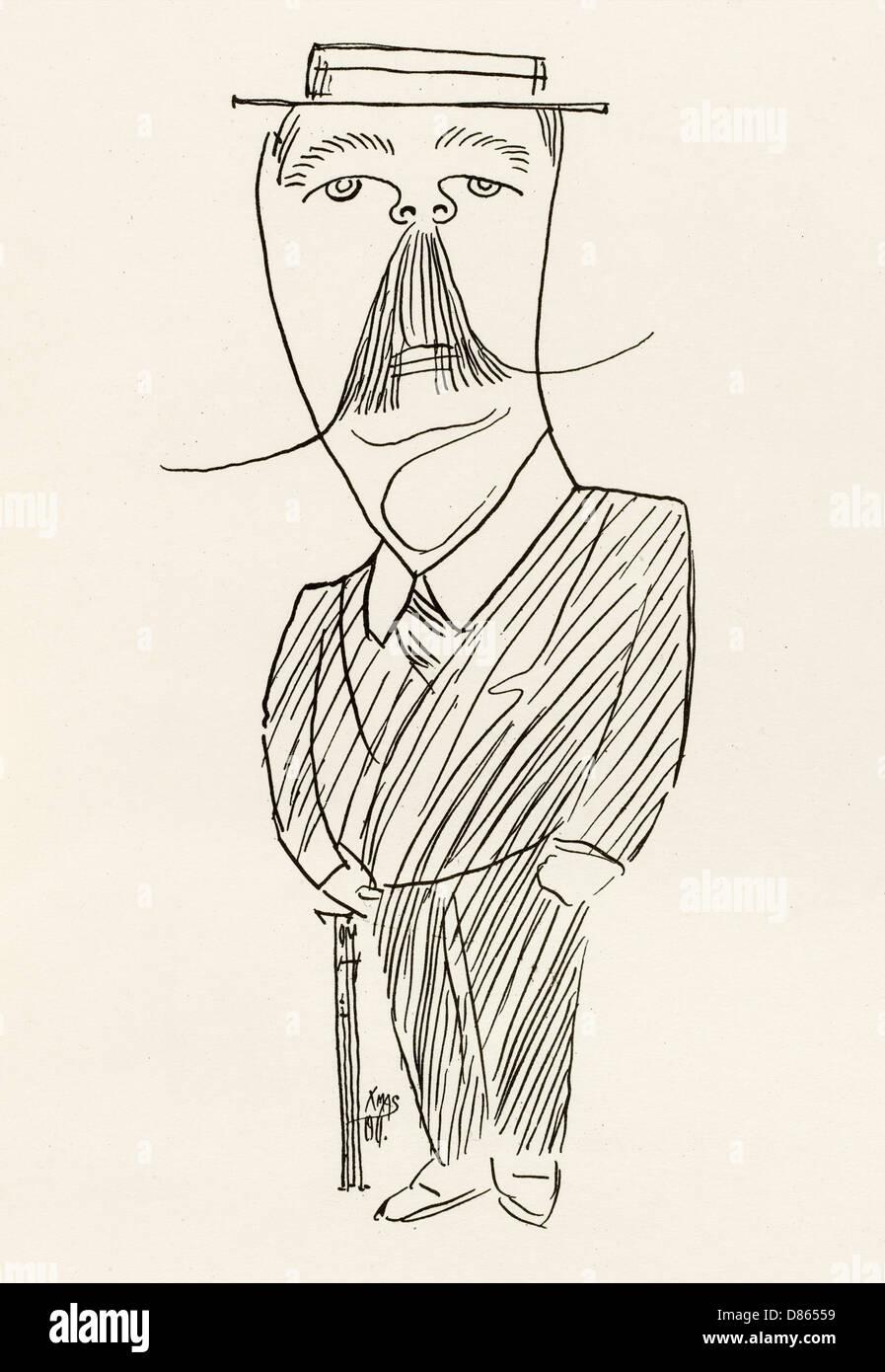 Sir Arthur Conan Doyle  Writer - Stock Image