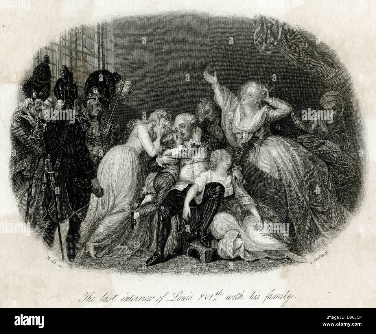Louis Xvi With His Family For The Last Time - Stock Image