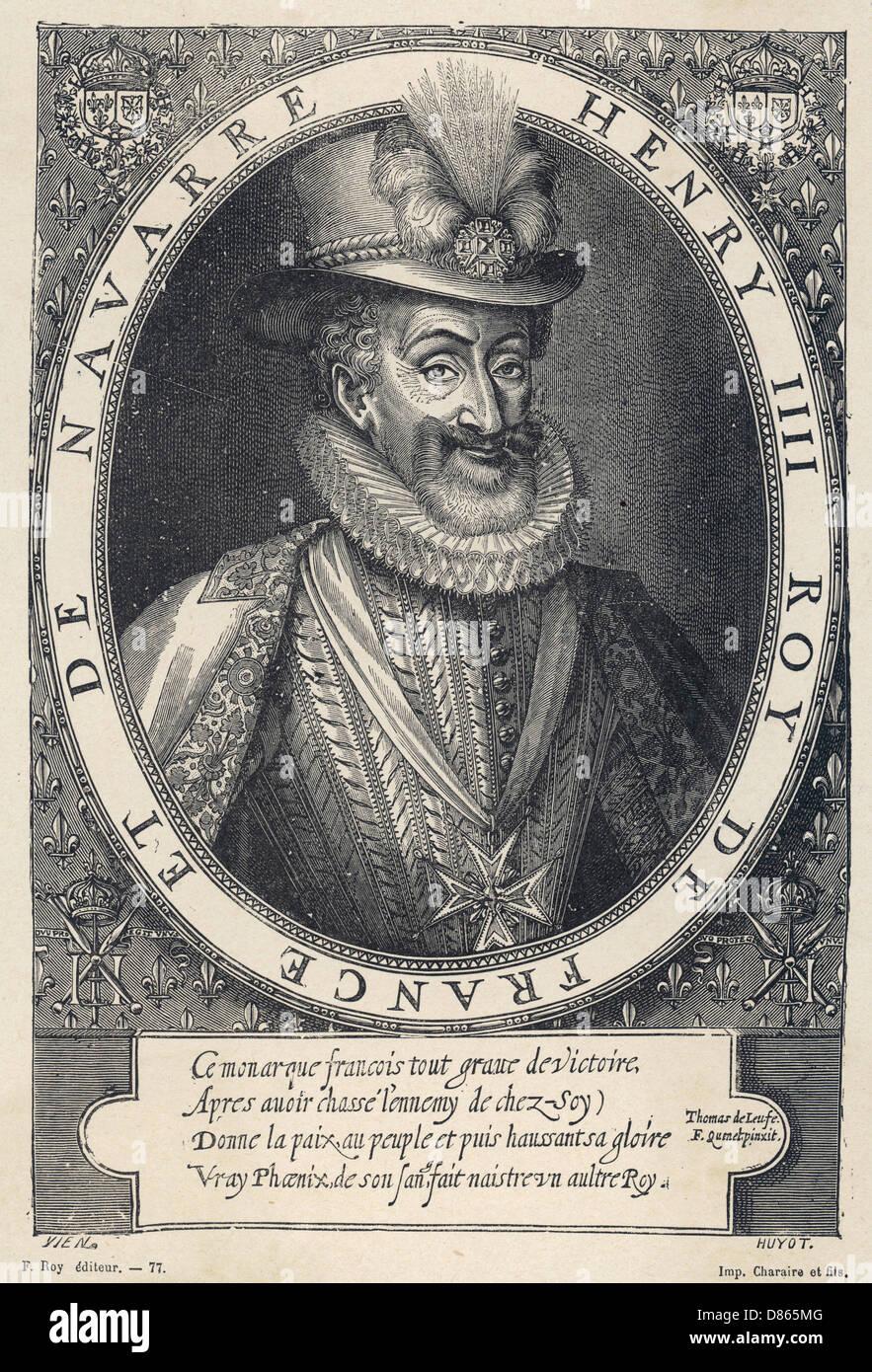 Henri Iv  French Royalty - Stock Image