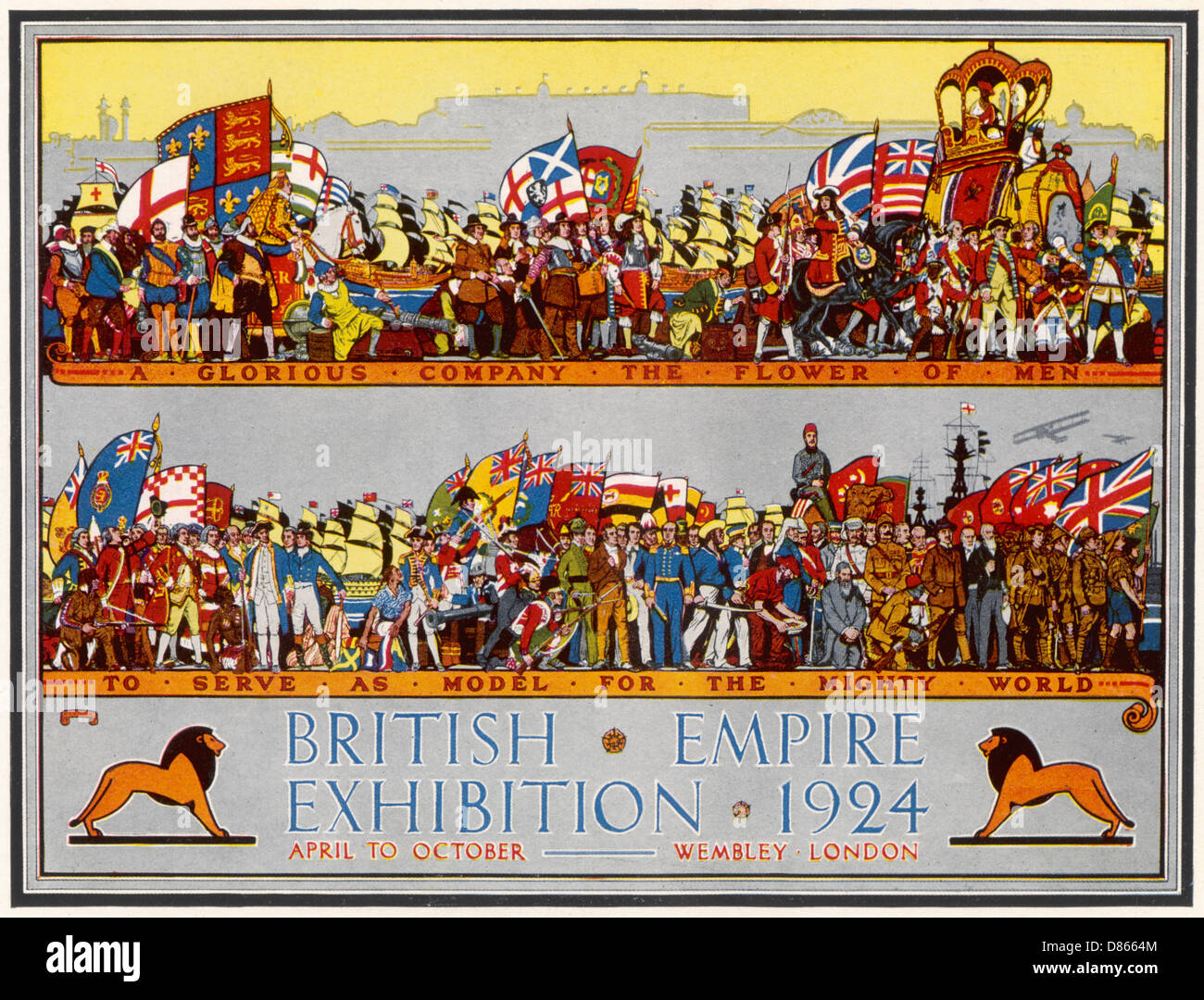 Poster Advertising The British Empire Exhibition 1924Stock Photo